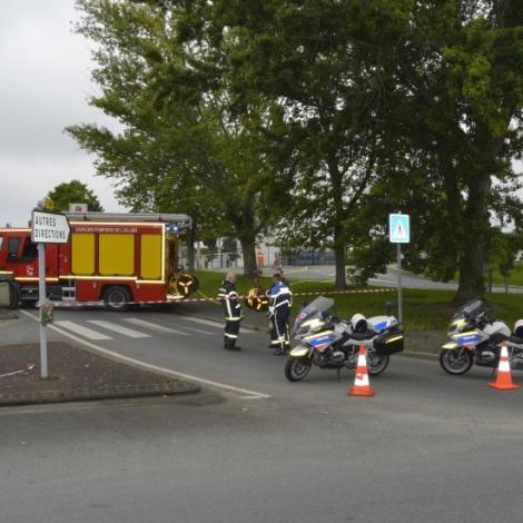 Fuite de gaz à la station service Auchan Domérat