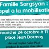 François Cassany du collectif de soutien à la famille Sargsyan
