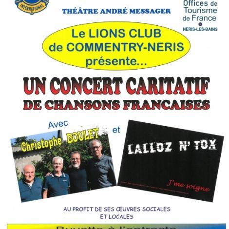 Un concert pour des oeuvres sociales demain soir au théâtre de Néris-les-Bains